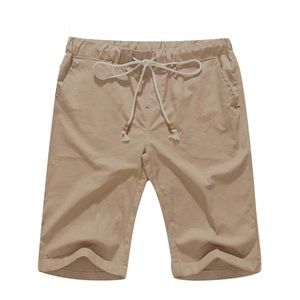 Men's Cotton/Linen Shorts w Drawstring
